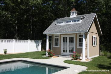 15' x 14' Heritage Pool House (D-temp Siding)