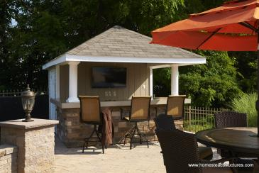 10 x 12 Siesta Poolside Bar (vinyl siding)
