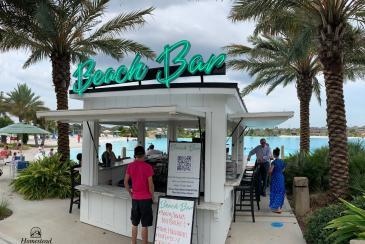 18' x 18' Custom Beach Bar & Snack Bar at Crystal Clear Lagoon in Humble TX