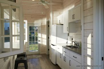Interior kitchen on Avalon pool house
