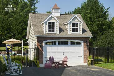 20'x20' Classic 1-Car Attic Garage with dormers and Cupola