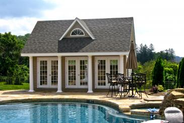 17' x 20' Heritage Pool House (vinyl siding)