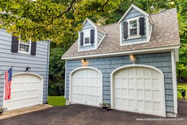 18' x 21' 2-Story 2-Car Garage in Connecticut