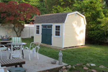 10' x 14' Laurel Dutch Barn Shed (vinyl siding)