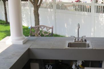Siesta Poolside Bar Sink