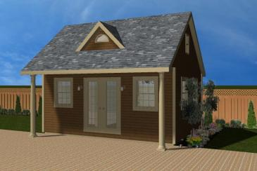 Heritage Pool House 3D Rendering