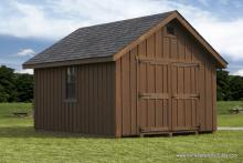 12 x 18 Classic A-Frame (Stained Board & Batten Siding)