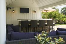 Avalon Pool House Bar Counter