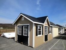 10' x 16' Black & Tan Classic A Frame Shed with Dormer