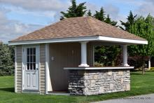 10' x 12' Siesta Poolside Bar with stone front in PA