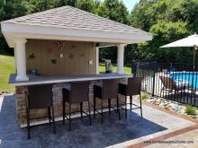 10 x 14 Siesta Poolside Bar with Hip Roof in Ghent, NY