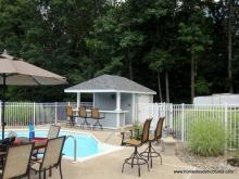 10x16 Siesta Pool Bar with hip roof
