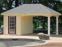 10' x 16' Avalon Pool House (vinyl siding)