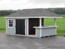 10' x 18' Siesta Poolside Bar with 2' Roof Overhang (D-temp siding)
