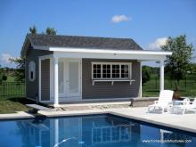 10' x 20' Custom Classic A Frame pool house with porch in Queenstown, MD