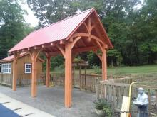 10 x 20 Eastern White Pine Timber Frame Pavilion