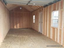 Interior of 12' x 24' Classic 1-Car Prefab Garage