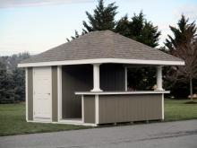 12' x 12' Siesta Hip Pool House with bar shelves
