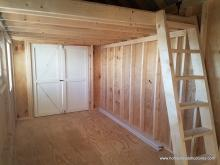 Unfinished interior of 12' x 17' Heritage Pool House