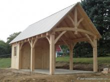 14' x 20' Timber frame Avalon Pool House with T&G pine siding