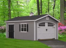 12' x 24' Classic Garage (D-temp Siding)