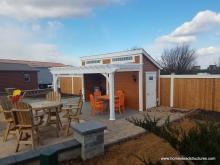 14 x 16 custom pool house with attached pergola
