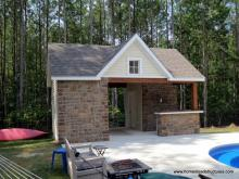 14' x 20' Custom Pool House with Stone facade in VA