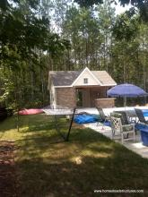14' x 20' Custom Pool House with stone & wood accents in Providence Forge, VA