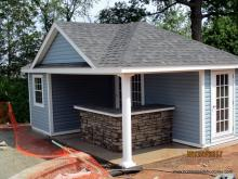 14' x 20' Wellington Pool House with bar