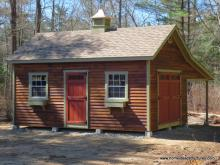 14' x 20' Century A-Frame Shed w/ Lean To (Cypress Clapboard Siding)
