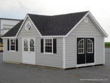 14' x 20' Classic Victorian Shed with vinyl siding