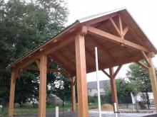 15' x 20' Timberframe Pavilion in West Bridgewater MA