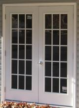 5' Double House Door with 15 Lite Windows