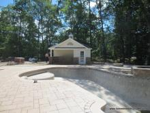 16' x 20' Wellington Pool House with Stone Facade