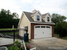 20' x 20' 1 Car Classic Garage with dormer windows in Maryland