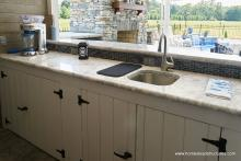 Country cabinets and granite counter top