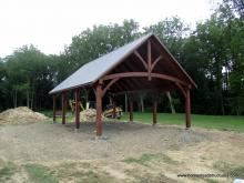 20' x 32' Timber Frame Pavilion in Oxford PA
