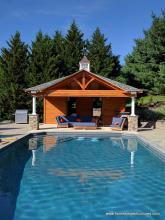 18x22 Timberframe Avalon Pavilion Pool House