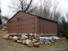 24' x 24' Keystone garage with a frame roof