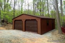 24' x 24' Keystone a frame modular 2 car garage