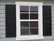 "24"" x 36"" Standard Window (shown with Raised Panel shutters)"