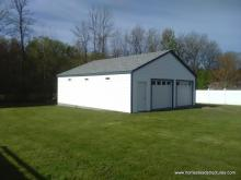 28' x 32' laure series a frame 2 car truss garage with vinyl siding