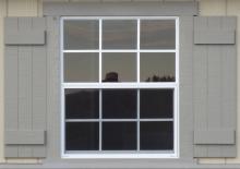 """30"""" x 36"""" Standard Window (shown with Batten shutters)"""