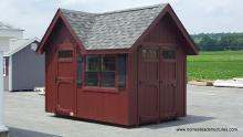 8' x 12' Classic Victorian Shed with Reverse Gable (DuraTemp Siding)