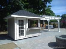 8' x 26' Custom Pool Shed Concession Stand with Pergola