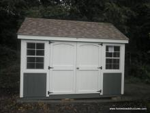 8' x 12' Laurel A-Frame Shed with double doors