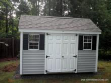 8' x 12' Laurel A-Frame Shed with shutters