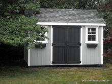 8' x 12'  A-Frame Laurel Shed with DuraTemp siding