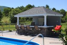 10' x 14' Avalon/Siesta Pool House with Bar (vinyl siding)