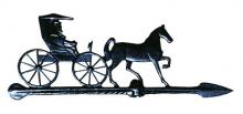 Black Horse & Buggy Weathervane